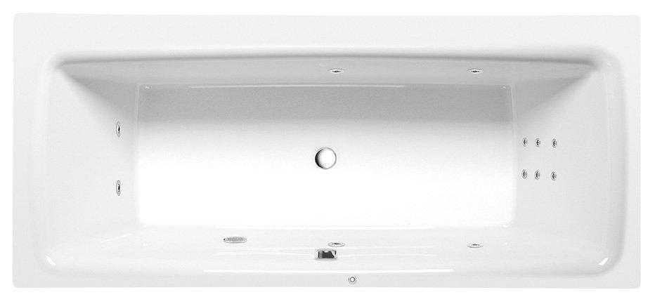 KVADRA HYDRO hydromasážní vana, 170x80x47cm, bílá