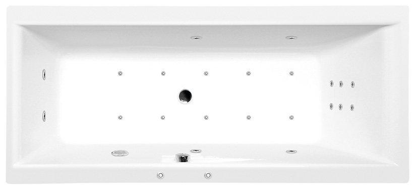 CLEO HYDRO-AIR hydromasážní vana, 170x75x48cm, bílá