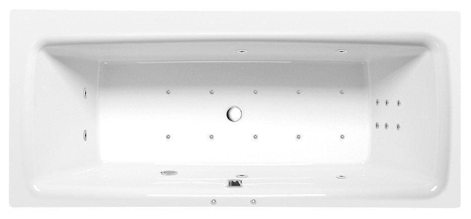 KVADRA HYDRO-AIR hydromasážní vana, 170x80x47cm, bílá