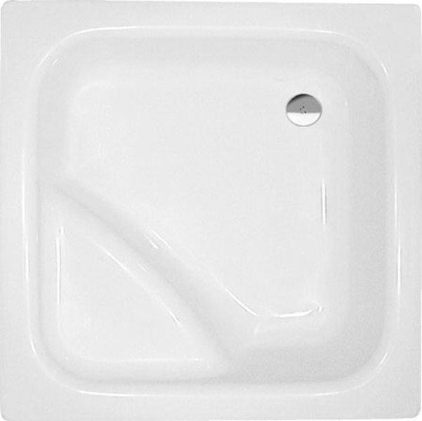 VISLA hluboká sprchová vanička, čtverec 80x80x29cm, bílá