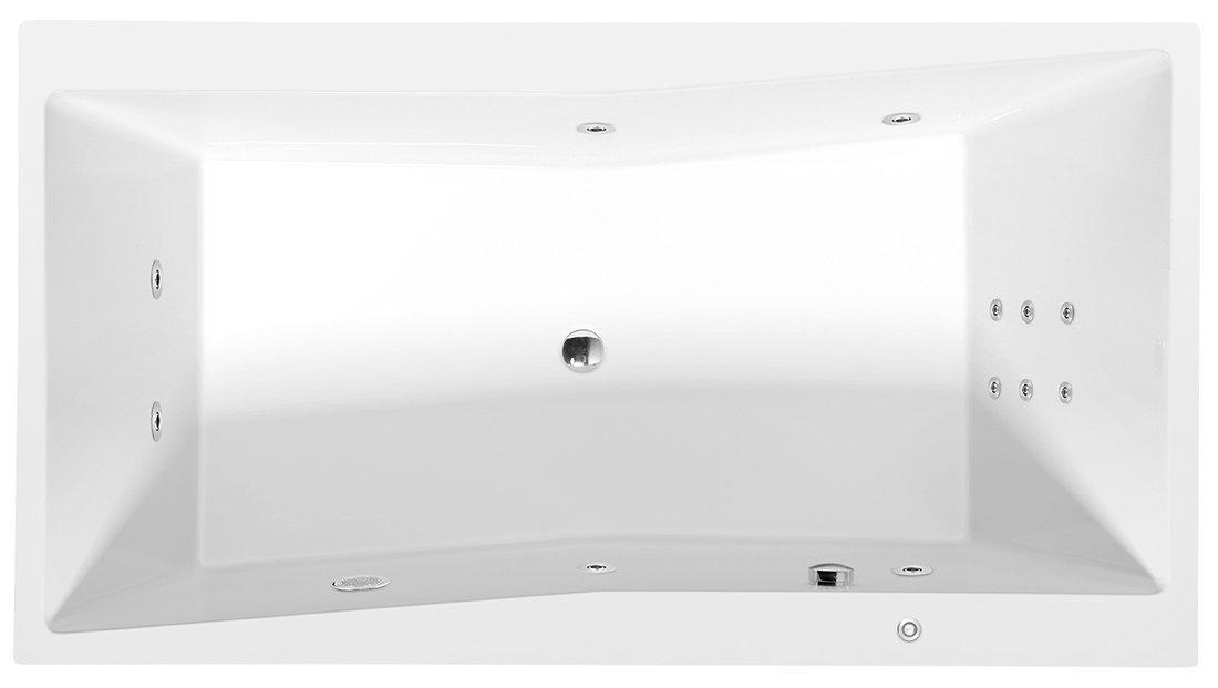 QUEST HYDRO hydromasážní vana, 180x100x49cm, bílá