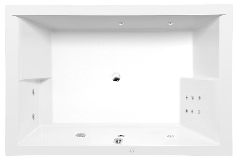DUPLA HYDRO hydromasážní vana, 180x120x54cm, bílá