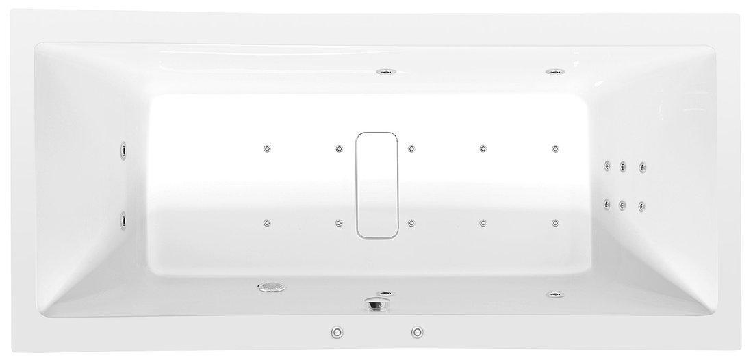 MARLENE HYDRO-AIR hydromasážní vana, 180x80x48cm, bílá