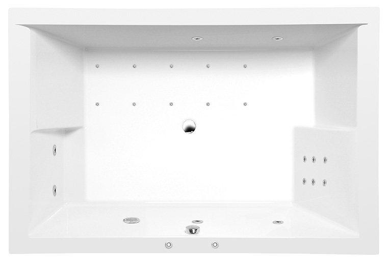DUPLA HYDRO-AIR hydromasážní vana, 180x120x54cm, bílá