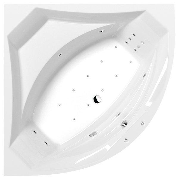 ROSANA HYDRO-AIR hydromasážní vana, 140x140x49cm, bílá