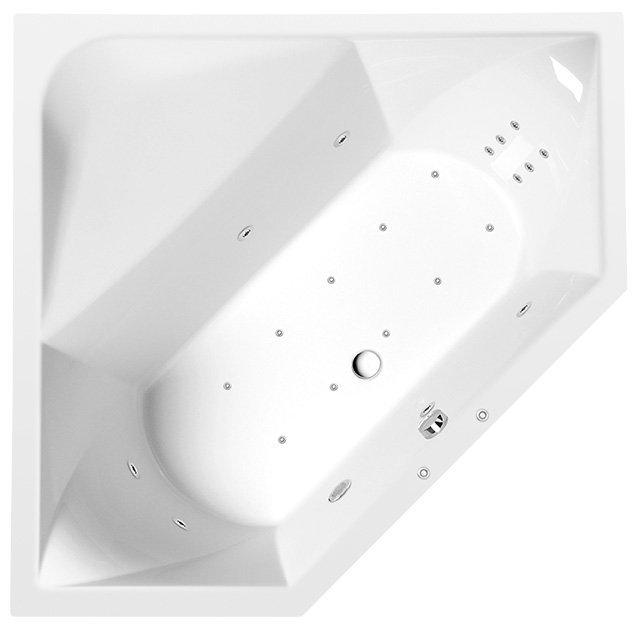 FLOSS HYDRO-AIR hydromasážní vana, 145x145x50cm, bílá