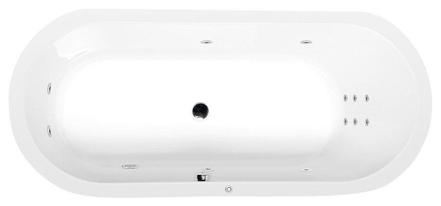 ASTRA O HYDRO hydromasážní vana, 165x75x48cm, bílá