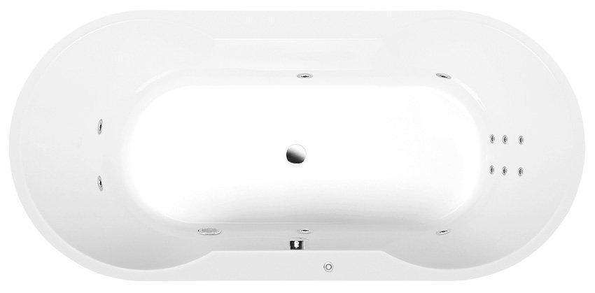 IO HYDRO hydromasážní vana, 180x85x49cm, bílá