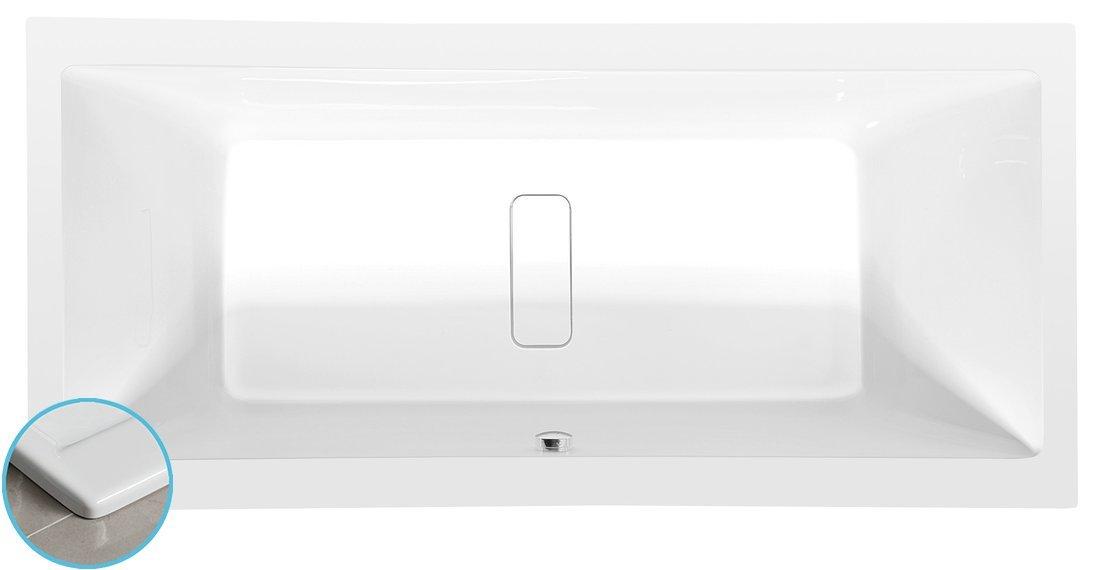 MARLENE SLIM obdélníková vana 190x90x48cm, bílá