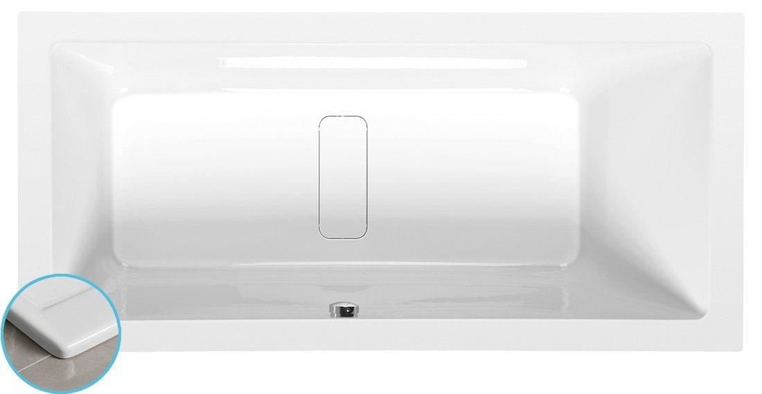 MARLENE SLIM obdélníková vana 170x80x48cm, bílá