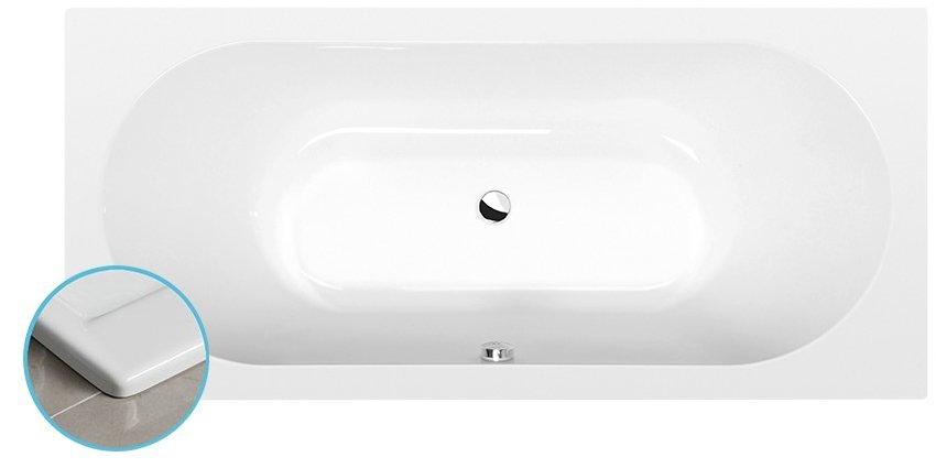 VIVA B SLIM obdélníková vana 185x80x47cm, bílá