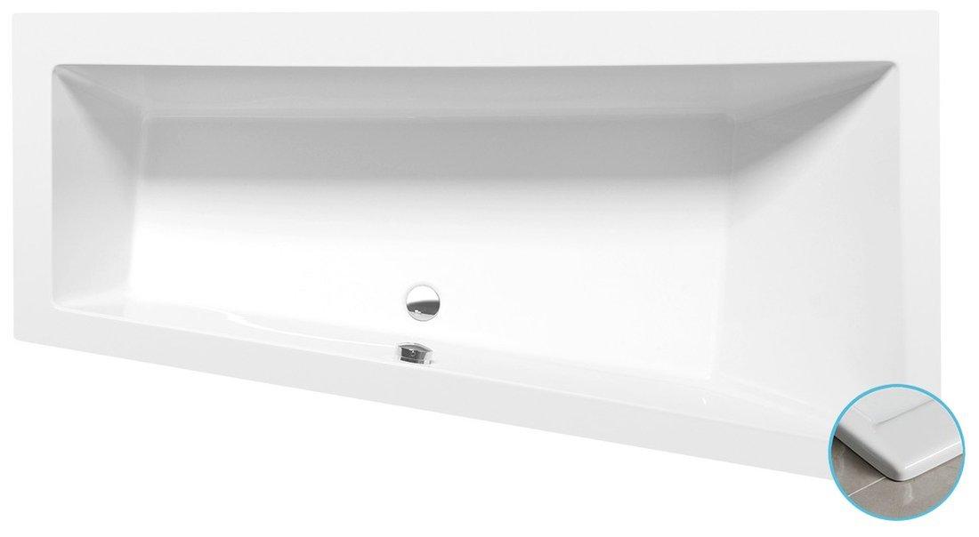 ANDRA R SLIM asymetrická vana 170x90x45cm, bílá