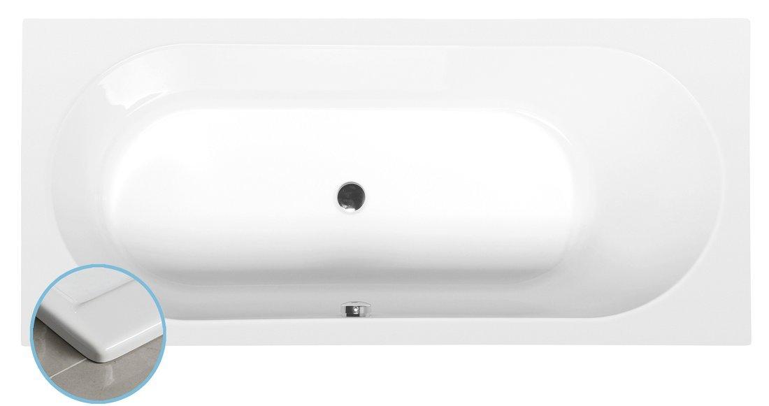ASTRA B SLIM obdélníková vana 165x75x48cm, bílá