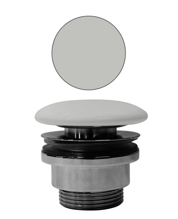 """GSI umyvadlová výpust 5/4"""", neuzavíratelná, tl.5-65 mm, keramická krytka, cenere mat"""