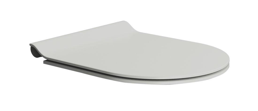 WC sedátko SLIM soft close, duroplast, cenere mat/chrom