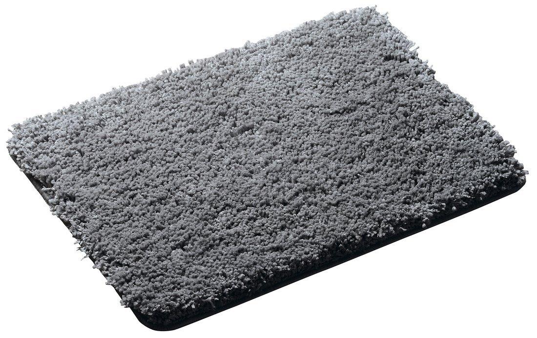 SOFTY předložka 60x90cm s protiskluzem, polyester mikrovlákno, šedá