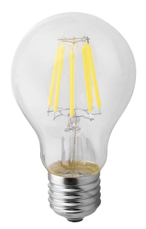 LED žárovka filament 8W, E27, 230V, teplá bílá, 1100lm