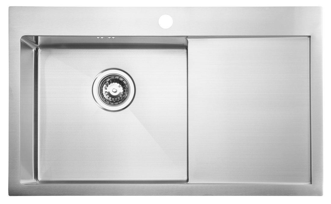 KIVA nerezový dřez s odkapem,79x48x20 cm, provedení L