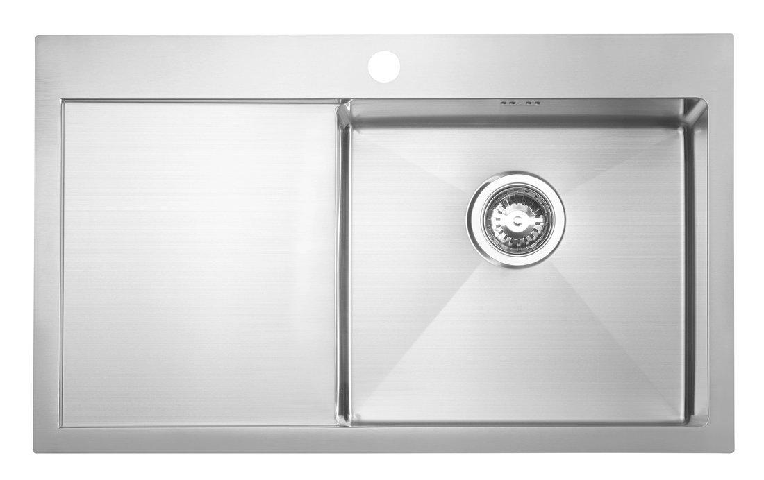 KIVA nerezový dřez s odkapem,79x48x20 cm, provedení P