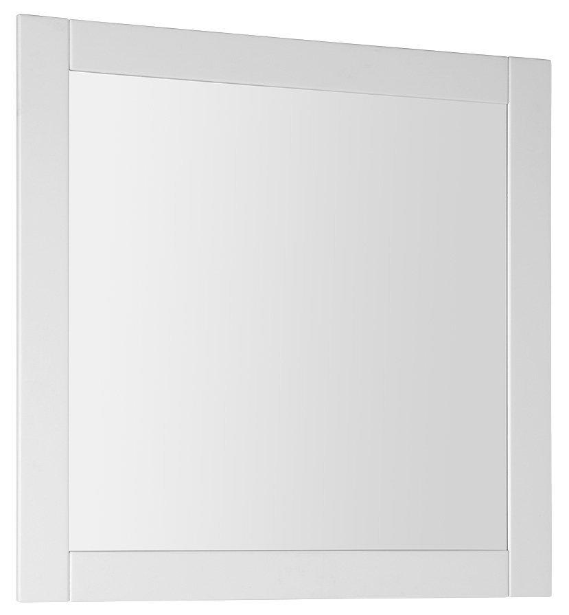 FAVOLO zrcadlo v rámu 80x80cm, bílá mat