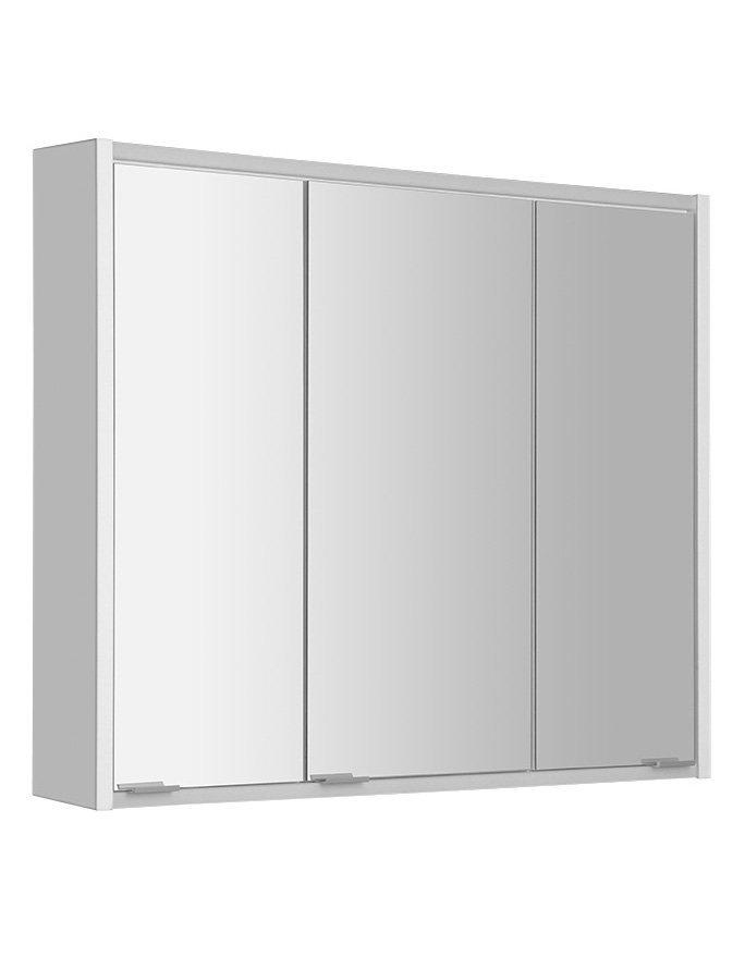 BATU galerka 80x71x15 cm, 2x LED osvětlení, bílá