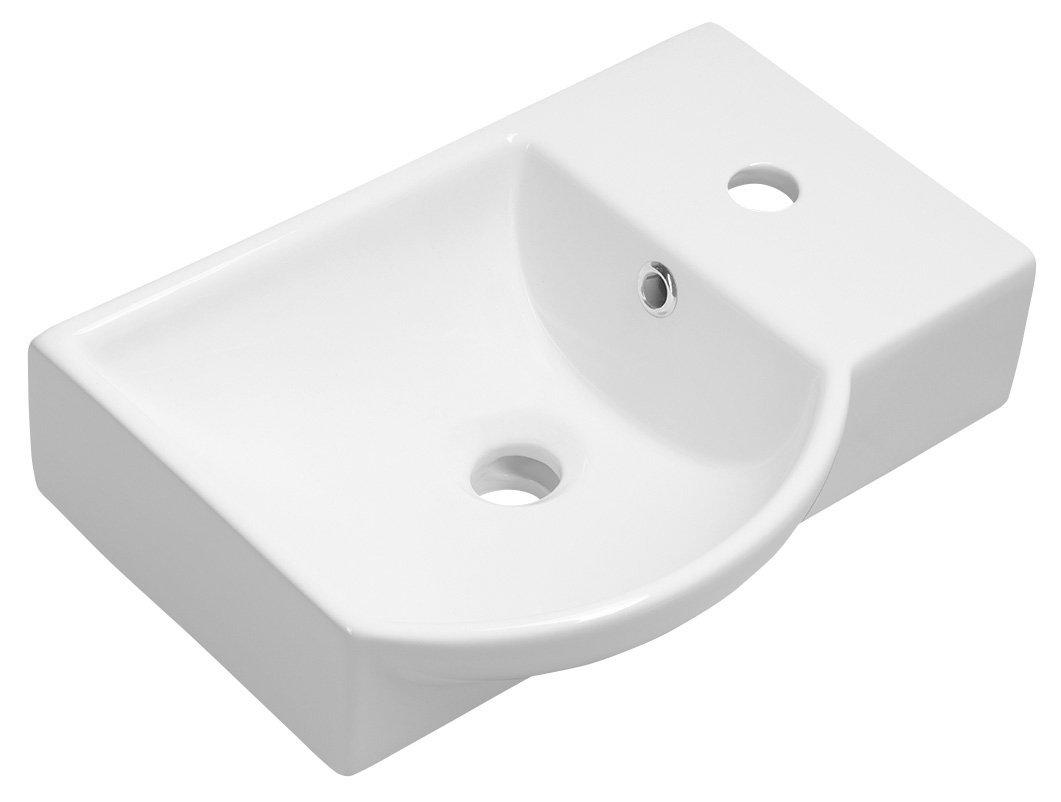 LITOS keramické umývátko pravé, 45x32 cm, bílá