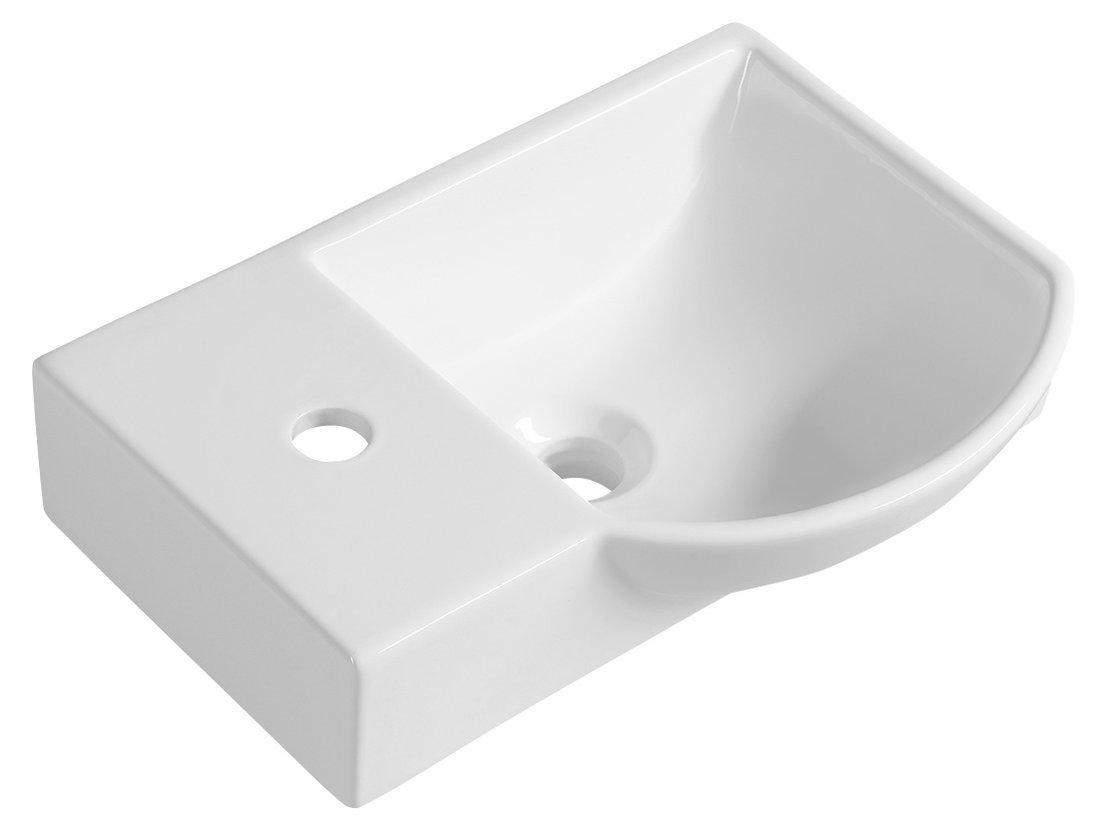 LITOS keramické umývátko levé, 45x32 cm, bílá