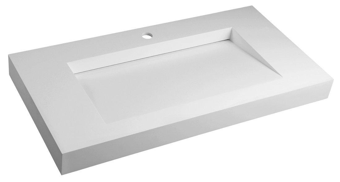 MINERVA umyvadlo 90x8x46 cm, bílá mat