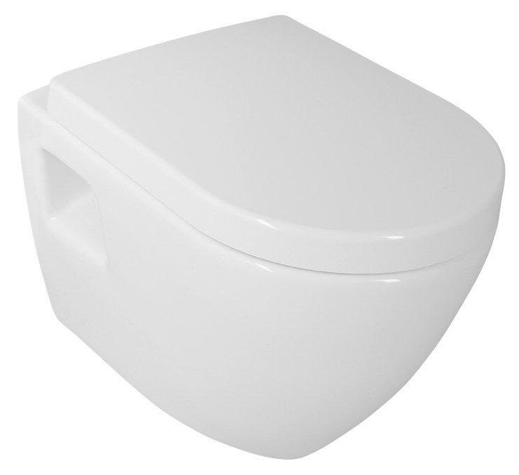 NERA závěsná WC mísa, 35,5x50 cm, bílá