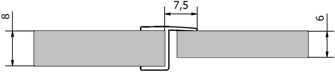 VITRA LINE těsnění mezi skla (praporek) 2000mm, na sklo 8mm