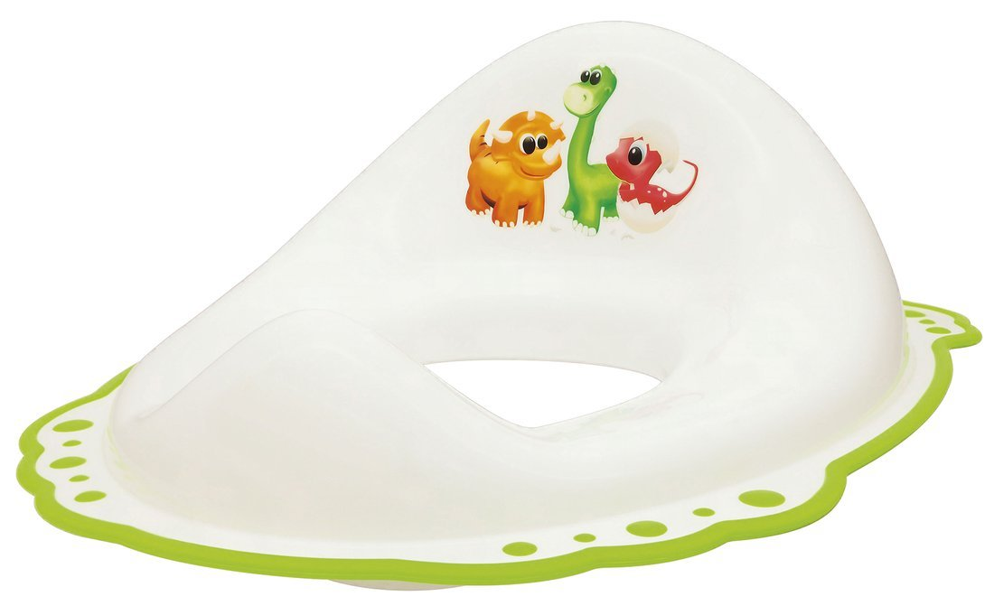 Dětské WC sedátko Dinosauři, bílá
