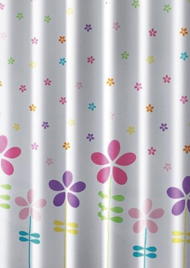 Sprchový závěs 180x180cm, polyester, květovaný barevný