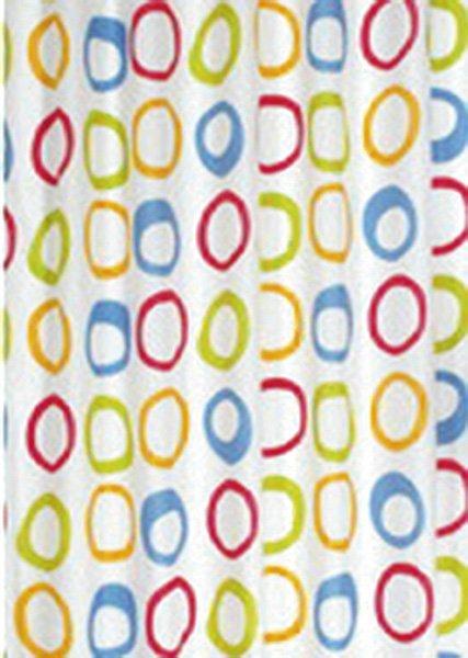 Sprchový závěs 180x200cm, polyester, kruhy