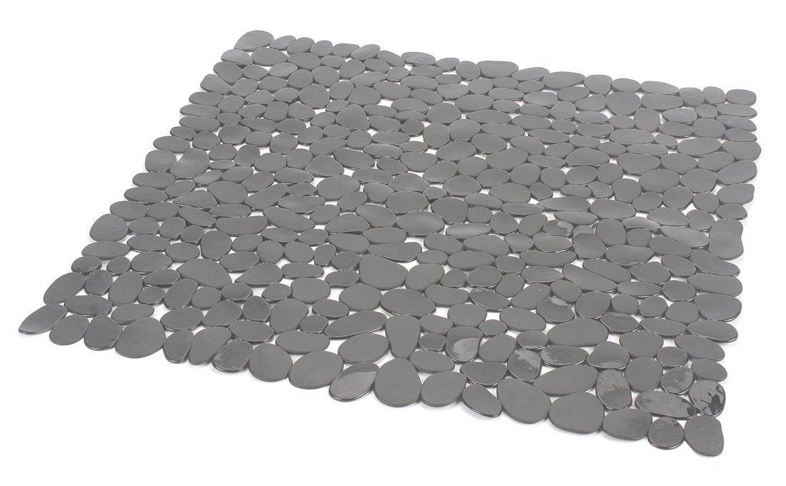 RIVER podložka do sprchového koutu, 54x54 cm, s protiskluzem, PVC, šedá