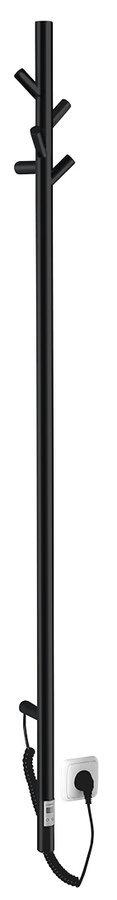 PASADOR elektrický sušák ručníků s časovačem, kulatý, 150x1500 mm, 30 W, černá mat