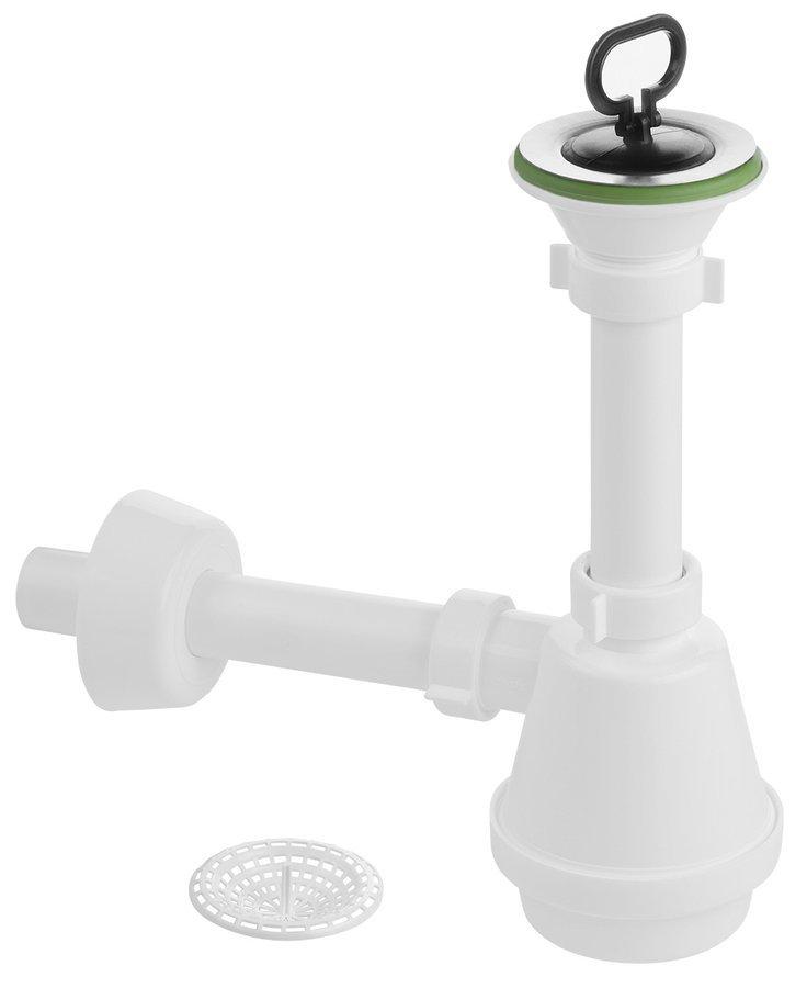 Set sifonu a výpusti pro artikl WH118, ABS/bílá/chrom