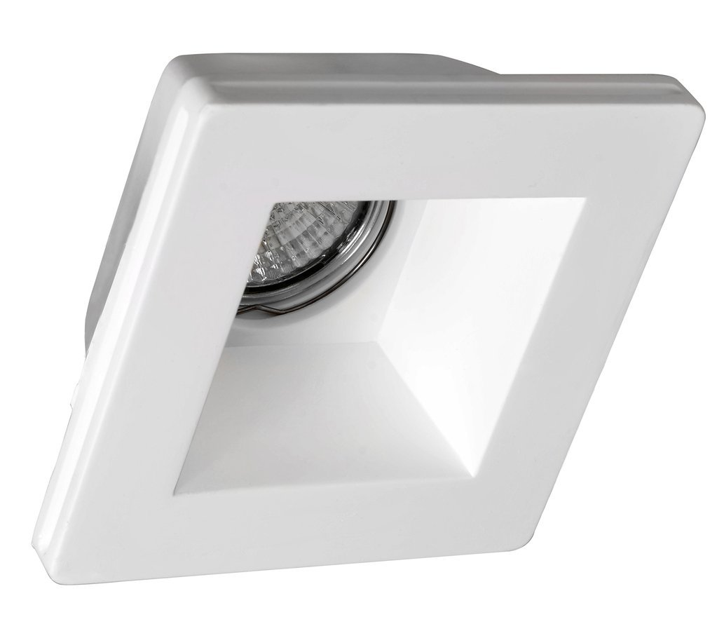 GIP podhledové sádrové svítidlo 120x120 mm, GU10, max 35W