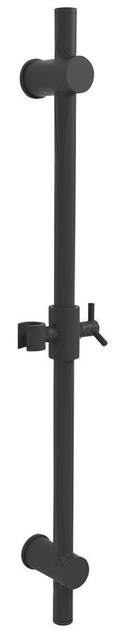 Posuvný držák sprchy kulatý, 700 mm, černá mat