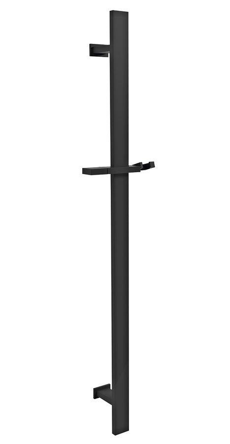 Posuvný držák sprchy hranatý, 700 mm, černá mat