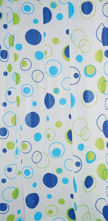 Sprchový závěs 180x200cm, vinyl, bubliny