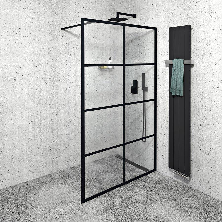 CURE BLACK sprchová zástěna 1400mm, černá mat