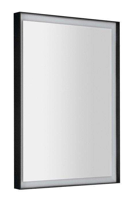 SORT LED podsvícené zrcadlo 47x70cm, matná černá