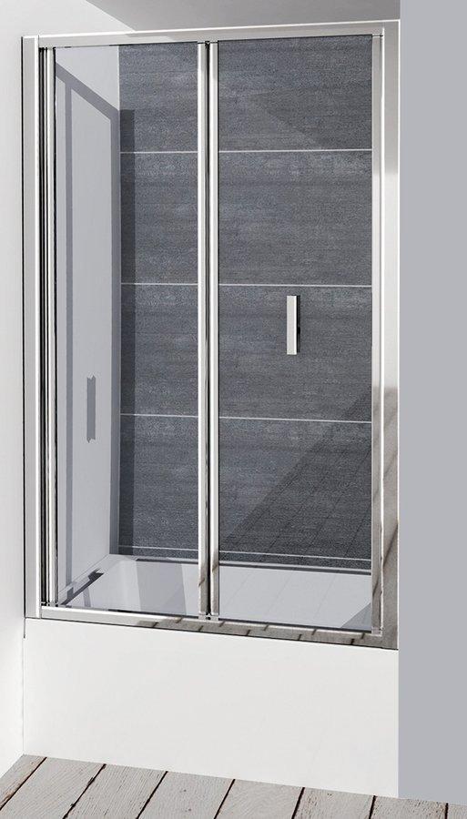 DEEP sprchové dveře skládací 1000x1650mm, čiré sklo