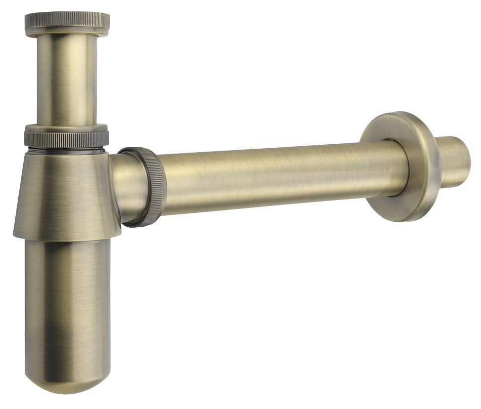 RETRO umyvadlový sifon 1'1/4, odpad 35 mm, bronz