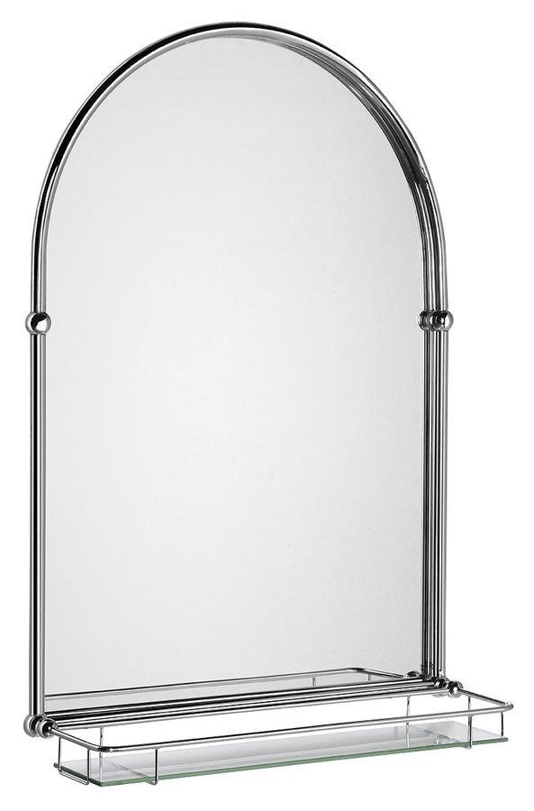 TIGA zrcadlo 48x67cm, skleněná polička, chrom