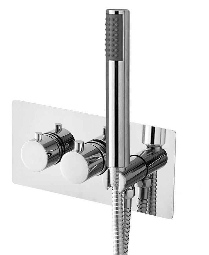 RHAPSODY podomítková sprchová termostatická baterie vč. sprchy, 3 výstupy, chrom