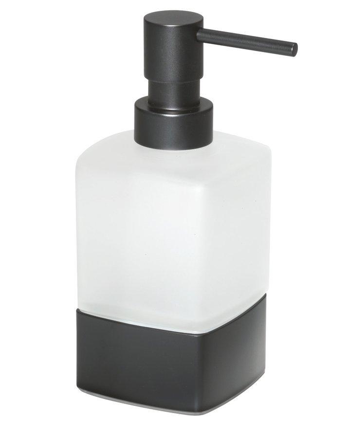 LOUNGE dávkovač mýdla na postavení, černá mat