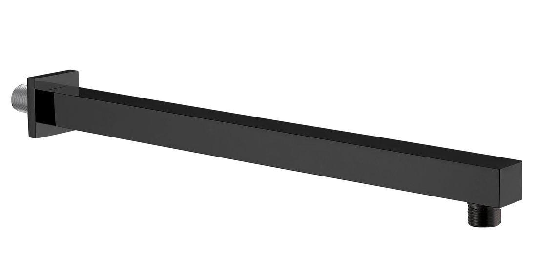 Sprchové ramínko hranaté, 400mm, černá mat