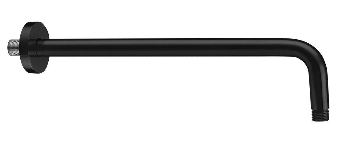 Sprchové ramínko kulaté, 400mm, černá mat