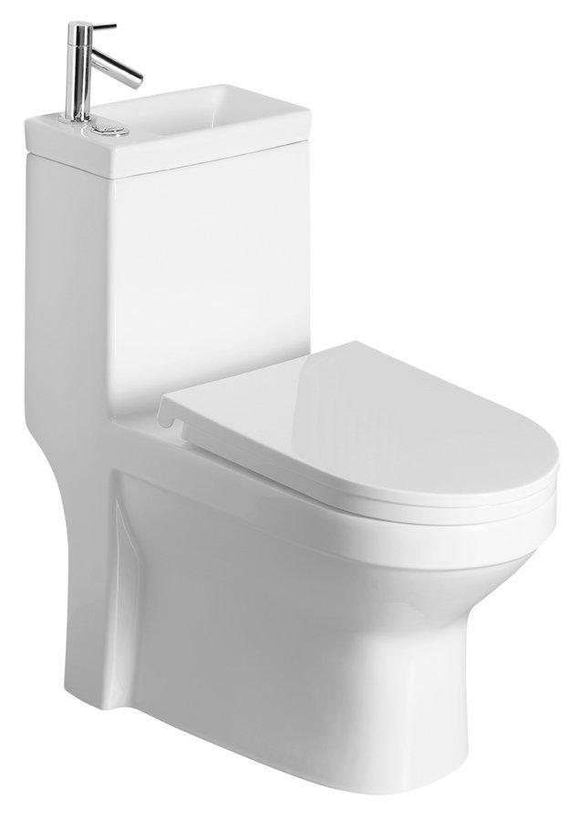 HYGIE WC kombi sumývátkem + sedátko, zadní/spodní odpad, bílá